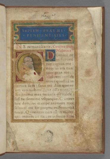 A prayer book that belonged to Pope Julius III.